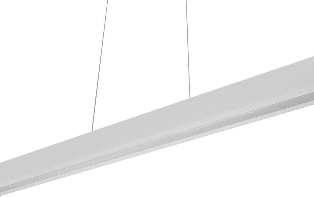 LED Hängeleuchte HausLeuchten LED120KB-3000K-SCHWARZ aus Holz 120cm 1998lm Warmweißes Licht (3000 K) Deckenlampe Deckenleuchte Pendelleuchte Leuchte Lampe (SCHWARZ - Warmweißes Licht (3000 K)) Dimmbare Weiß Warmweißes Licht