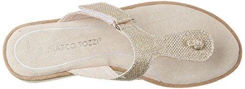 Marco Tozzi 27101, Sandalias Para Mujer Plateado (Platinum Metal 989)