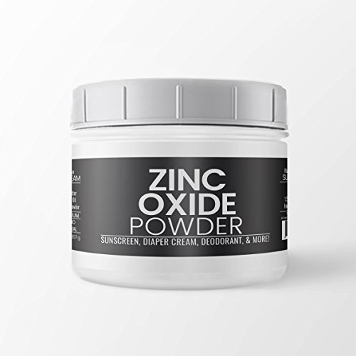 Zinc Oxide Powder, Non-Nano, Uncoated, Organic, Food & USP Grade, All-Natural, Baby Safe, Cosmetic Use, DIY Sunscreen, DIY Diaper Cream Ointment, Baby Powder, Chapped Lips Remedy, R (24 oz (1.5 lb