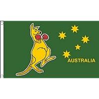 Boxing Kangaroo Flag 2' x 3' - Australian National Symbol - Australia Flags 60 x 90 cm - Banner 2x3 ft - AZ FLAG