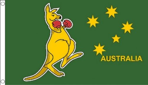 Boxing Kangaroo Flag 3 X 5 Australian National Symbol