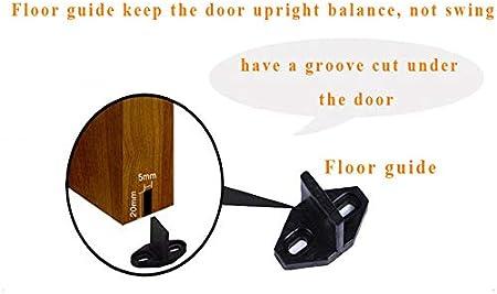 gu/ía de suelo para pared o bajo de puerta CCJH Puerta de granja corredera ajustable