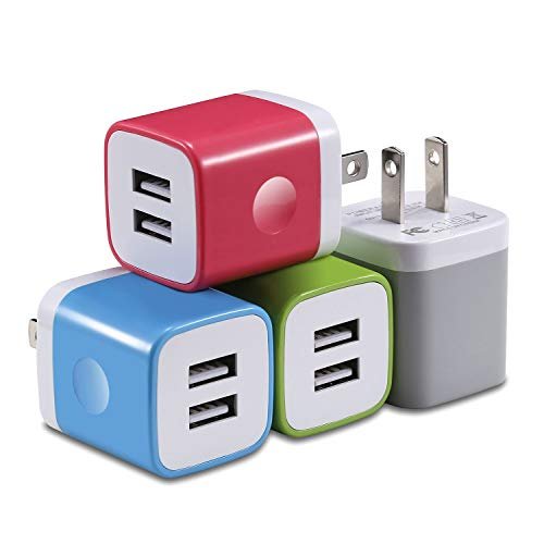 X-EDITION USB Charger Plug, 4-Pack 2.1A Dual Port USB Wall Charger Power Adapter Charging Block Cube Compatible with Phone Xs Max/Xs/XR/X/8/7/6 Plus/5S, Samsung, LG, Moto, Android Cell Phones More from X-EDITION