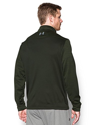Under Armour Men's Storm Armour Fleece 1/4 Zip, Artillery Green (357)/Steel, Small by Under Armour (Image #2)