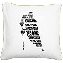 "CafePress - Language Hockey (Skater) - 20"" Canvas Pillow, Throw Pillow, Accent Pillow"