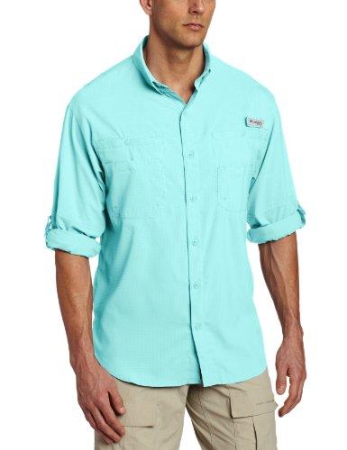 Buy cheap columbia mens plus tamiami long sleeve shirt gulf stream medium