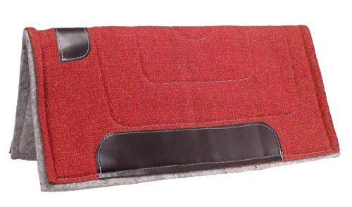 Tough 1 Ottawa Saddle Pad Heavy Felt Lined, Red by Tough 1