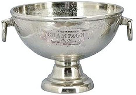 gro/ß ca. 48 x 39 x 29 cm hoch Exner klassischer eleganter gro/ßer Champagnerk/ühler Sektk/ühler Flaschenk/ühler rund auf Fu/ß Aluminium rau poliert in 2 m/öglichen Gr/ö/ßen
