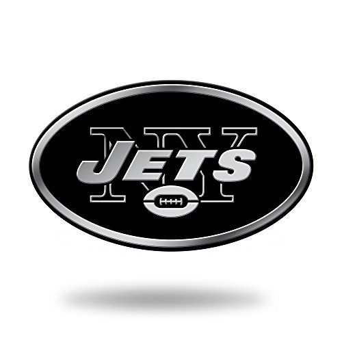 - Rico Industries NFL New York Jets Chrome Finished Auto Emblem 3D Sticker
