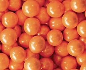 Orange Shimmer Sixlets Candy 1LB Bag by Sixlets