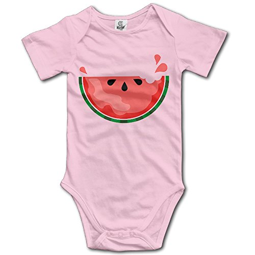 Price comparison product image NUBIA Toddler Watermelon Short-Sleeve Romper Playsuit Pink 18 Months