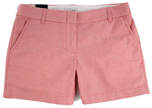 """J.Crew - Women's - 5"""" Oxford Shorts (Multiple Colors/Sizes Available) (8, Red Poppy) from J.Crew"""