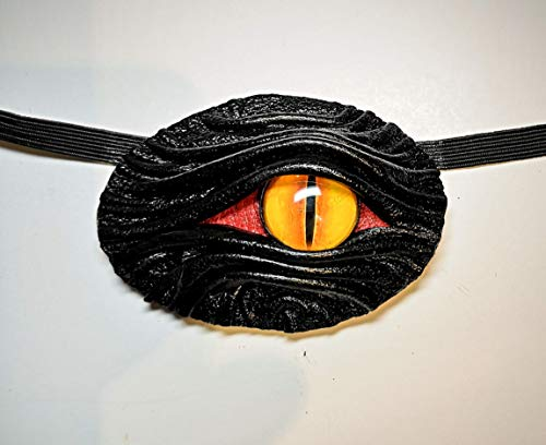 Black Leather Eye Patch eyepatch Cosplay Larp Steampunk Pirate Captain Medical Stage Gothic style Halloween costume. For adults, for kids. For left eye, for right eye. ()