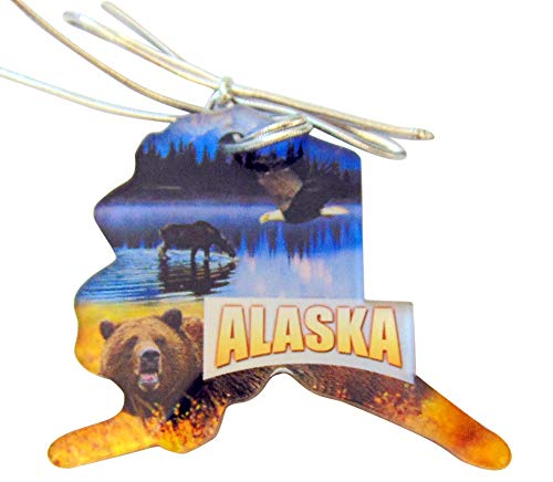 Westman Works Alaska Christmas Ornament State Shaped Decoration Acrylic Gift Boxed Made in The USA