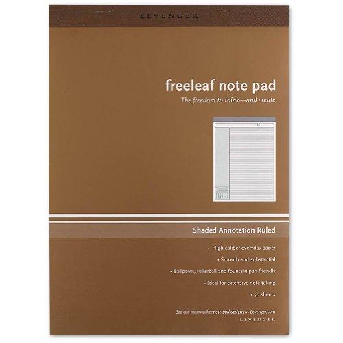Freeleaf - Levenger Freeleaf Shade Annotation Ruled Pads, Letter (5) (ADS3610)