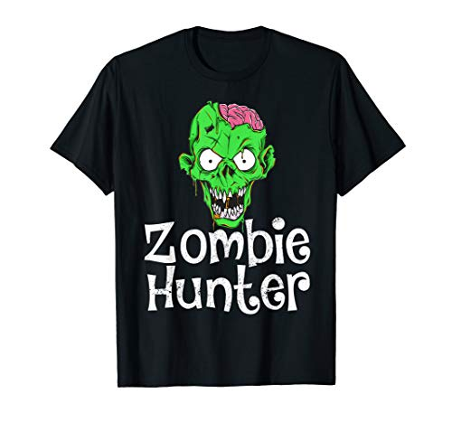 Halloween Zombie Hunter T shirt Funny Party Gift