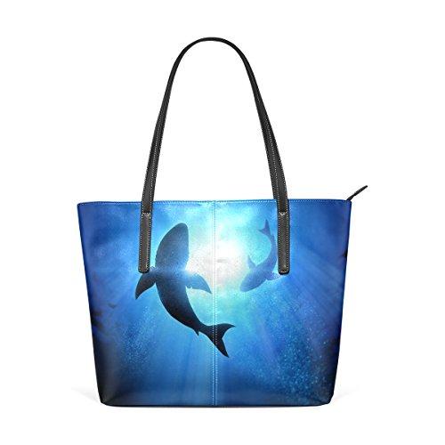 In Le Muticolour Borse Coosun Nuoto Dophins Pelle Borsa E Donne Tote Pu Significa Bag Per gZBCwqY