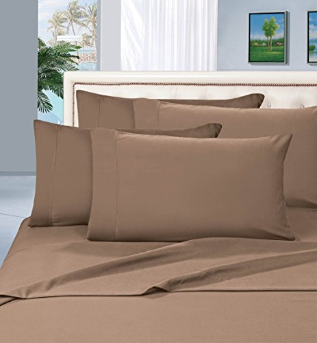 Elegant Comfort 1500 Thread Count Egyptian Quality 4-Piece Bed Sheet Sets, Queen, Deep Pockets, Taupe (Comfort Sets)