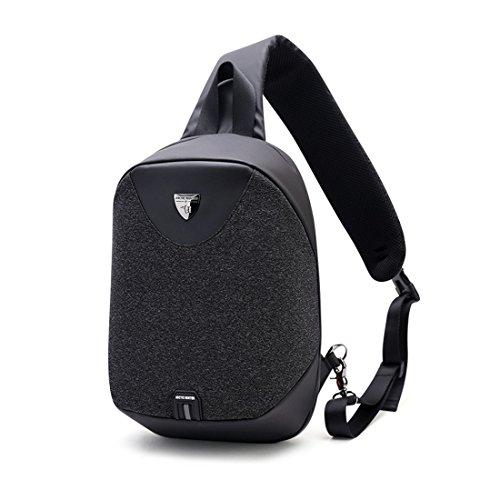 bolsa los mochila de aire nuevo de bag Messenger libre hombro los Negro deportes moda hombres de antirrobo de hombro TOOGOO estilo Negro al de deportes UqFwBIIP