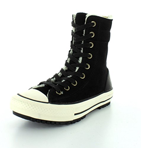 in Dainty Converse Nero OX AS pelle Brown marrone Lea 537557C dS1gqI1w
