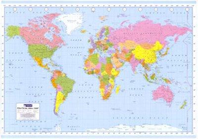 Cartina Geografica Del Mondo Grande.Poster Gigante Mappa Politica Del Mondo Dimensione 140 X 99 Cm