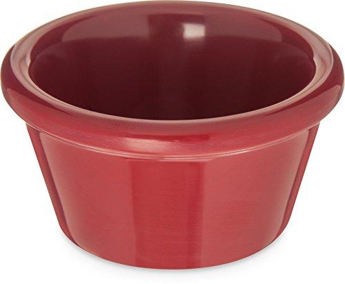 carlisle-085258-melamine-smooth-ramekin-2-oz-capacity-roma-red-case-of-72