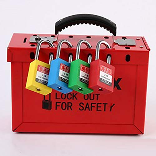 FLAMEER LOTO Box Safety Lockout Tagout Lock Device Storage Up To 12 Padlocks for facilities where devices//energy sources need to be authorized