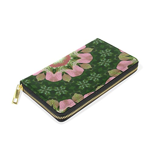 Organizer And And Flower Clutch Around Purses Green Pink Wallet Zip Womens TIZORAX Mandala Handbags ZxS5z8w5q