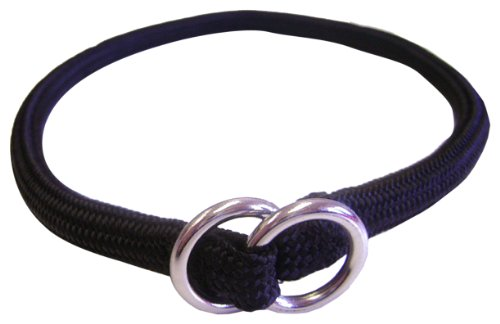 hamilton-824-bk-3-16-inch-by-12-inch-round-braided-choke-nylon-dog-collar-black