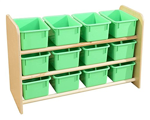 Wood Designs 13809LG(Woogp) SEE-All Storage with (12) Lim...