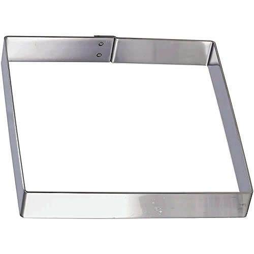 Matfer Bourgeat 371110 Square Cake Frame, Silver by Matfer Bourgeat