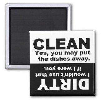 Clean Dirty Dishwasher magnet - Aardvark Magnet