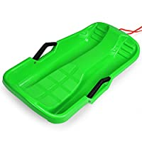 FITNATE Winter Durable Plastic Snow Sled in Boat Shape Snow Sledge for Child and Adult Outdoor