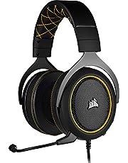 Corsair HS60 Pro SurroenGaming Headset (7.1 SurroenSound, Geheugenschuim oorkussens, Afneembare ruisonderdrukkende microfoon, voor PC, XBOXOne, PS4, Switch en mobiele apparaten) Zwart/Geel