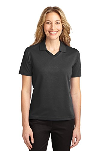 Para Port Authority Polo Mujer Azabache Negro 1qTUw