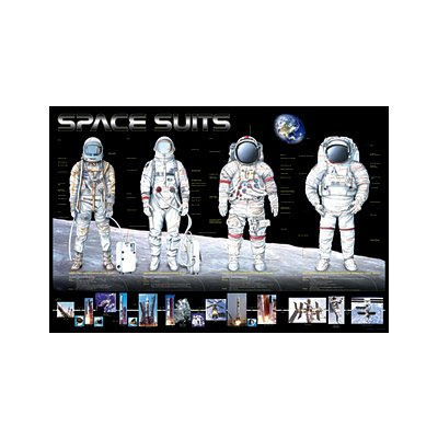 Astronaut Space Suits Educational Poster Print