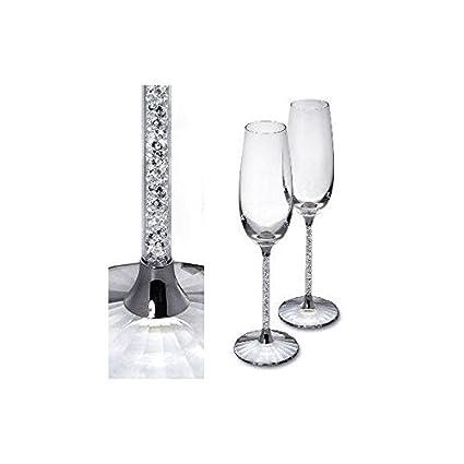Amazon Com Swarovski Crystalline Toasting Flutes Set Of 2
