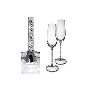 swarovski crystalline toasting flutes set of 2