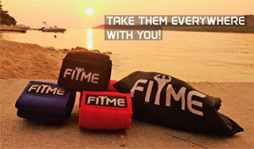FITME Premium Exercise Resistance Workout Bands with Grip (Pack of 3 Sizes) - Exercise Guide and Carry Bag Included by FITME Sports (Image #4)