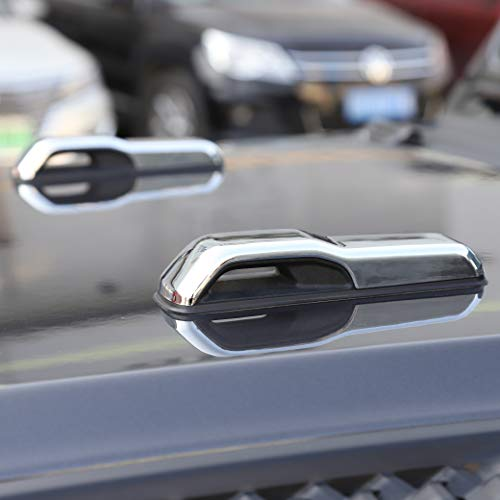 Car ABS Engine Hood Hinge Cover Decoration Cover Stickers Exterior Accessories for Jeep Wrangler JL 2018 (Chrome)