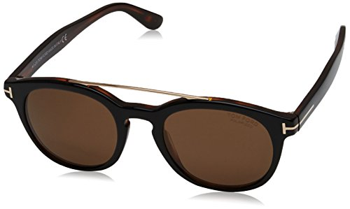 Tom Ford FT0515 05H Black Dark Havana Newman Round Sunglasses Polarised Lens - Tom Newman Ford