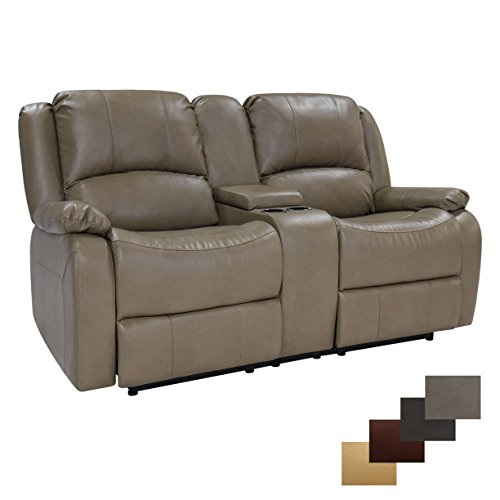 "RecPro Charles Collection | 70"" Double Recliner RV Sofa & Console 