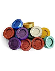 Color Charcoal Round Tablets, 8 Colors 80 pieces
