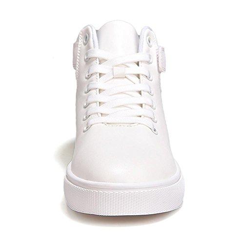 scarpe sportive Scarpe da corsa Scarpe piatte maschi Assorbimento degli urti traspirante Sport all'aria aperta Fatto a mano Usura antiscivolo , White , UK 7.5 / EU 41