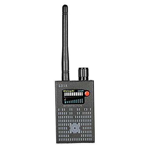 (Radio Detector, KKmoon Multi-Functional Full-Range RF Wireless Signal Radio Detector Camera Auto-Detection Tracer Finder 1MHz-8GHz Range Adjustable Sensitivity)