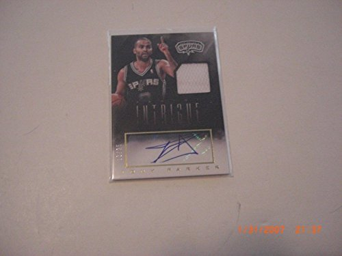 - Tony Parker 2014 Panini Intrigue Game Used Jersey Auto 13/25 Signed Card - Panini Certified - Basketball Game Used Cards