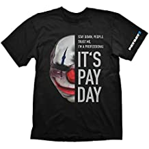PAYDAY 2 Men's Chains Mask T-Shirt (2X-Large/Black)
