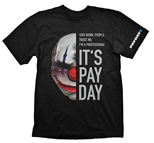 Payday 2 Chains Costume (PAYDAY 2 Men's Chains Mask T-Shirt (2X-Large/Black))