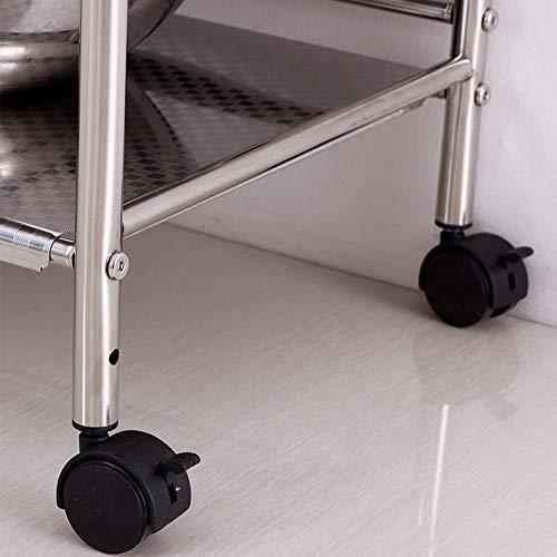Shelf Storage Racks Cupboard Organizers Kitchen Landing Stainless Steel Four Floors Microwave Oven Rack It Can Move Wheeled Storage Rack 6034100.5cm ZHAOYONGLI by ZHAOYONGLI-shounajia (Image #5)