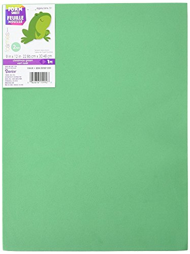 Foam Sheet 9X12 2mm-Christmas Green, Pack of 20